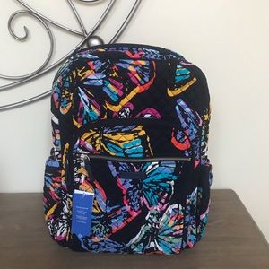 NEW Vera Bradley Campus Backpack Butterfly Flutter